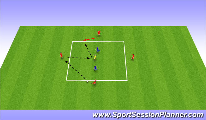 Football/Soccer Session Plan Drill (Colour): Rondo Variation