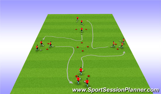 Football/Soccer Session Plan Drill (Colour): Diamond