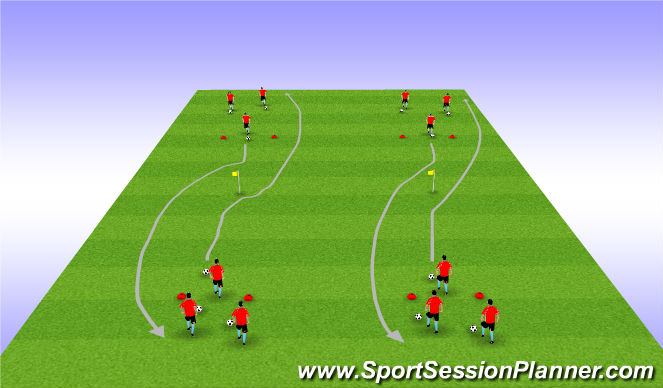 Football/Soccer Session Plan Drill (Colour): Simple