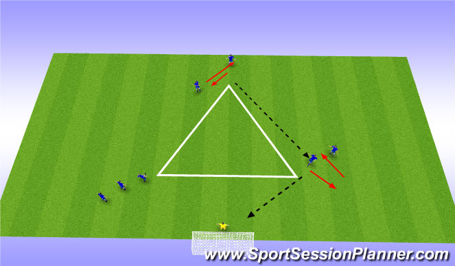 Football/Soccer Session Plan Drill (Colour): Technical Drill: shooting