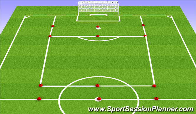 Football/Soccer Session Plan Drill (Colour): Through Pass Game