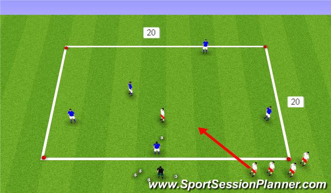 Football/Soccer Session Plan Drill (Colour): possession 1 Progresion
