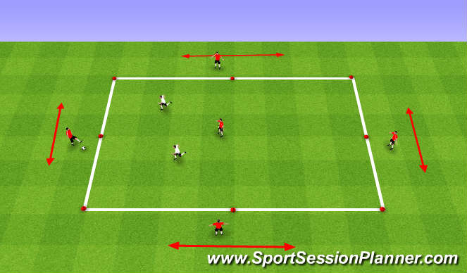 Football/Soccer Session Plan Drill (Colour): 2 - Possession Out