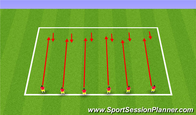 Football/Soccer Session Plan Drill (Colour): 20 min run