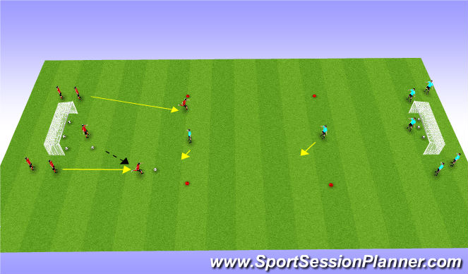 Football/Soccer Session Plan Drill (Colour): Jail Game 2