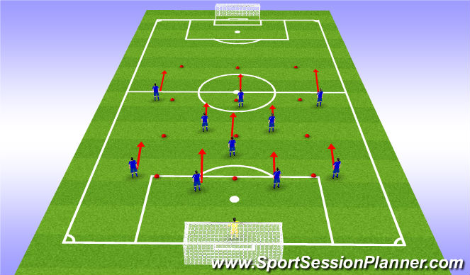 Football/Soccer Session Plan Drill (Colour): Move as a Unit