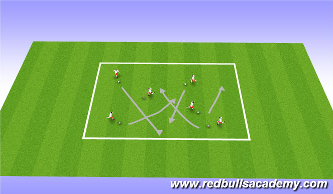 Football/Soccer Session Plan Drill (Colour): Messi and Ronaldo