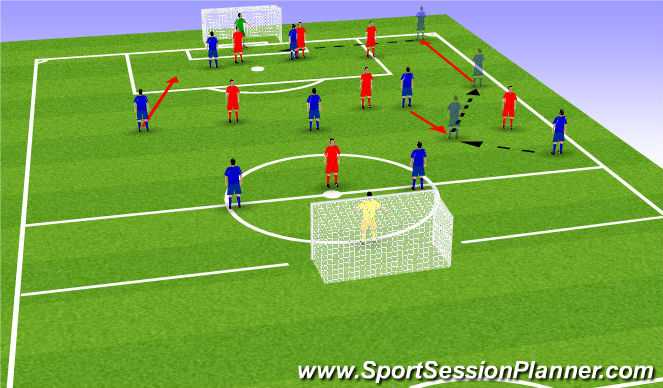 Football/Soccer Session Plan Drill (Colour): Effect WMF/MF Unit
