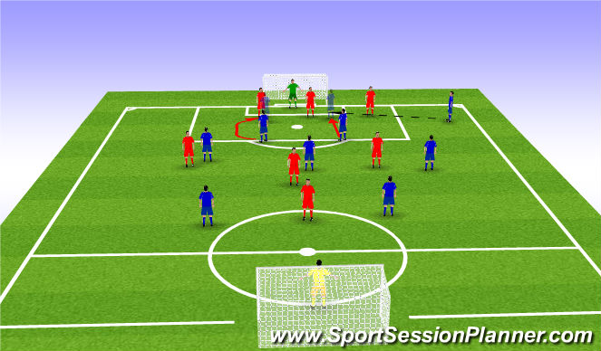 Football/Soccer Session Plan Drill (Colour): Effect Strikers