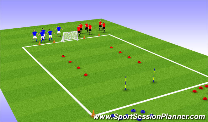 Football/Soccer Session Plan Drill (Colour): Collect the Treasure