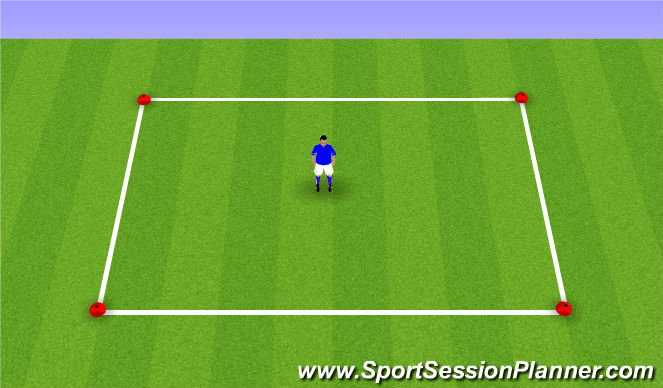 Football/Soccer Session Plan Drill (Colour): Triangles - Sole
