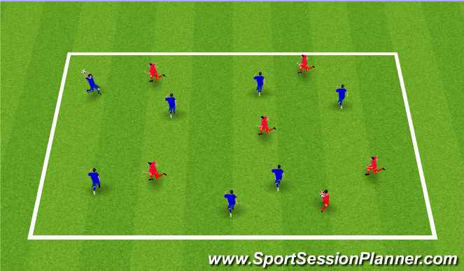 Football/Soccer Session Plan Drill (Colour): Throwing and Catching Exercise