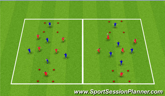 Football/Soccer Session Plan Drill (Colour): Target Ball