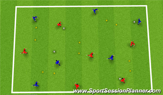 Football/Soccer Session Plan Drill (Colour): Movement in a Crowd