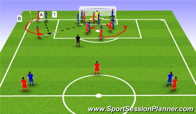 Football/Soccer Session Plan Drill (Colour): Option 1 shot