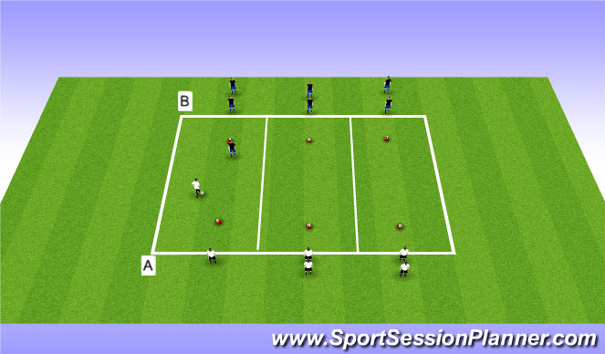 Football/Soccer Session Plan Drill (Colour): Main Bulk