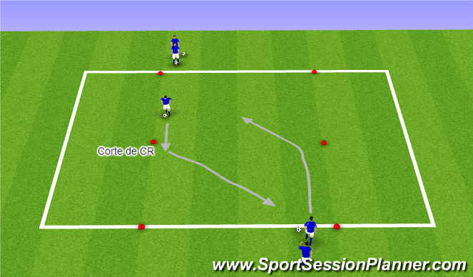 Football/Soccer Session Plan Drill (Colour): Parte I
