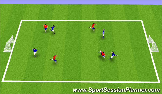 Football/Soccer Session Plan Drill (Colour): Juego Libre