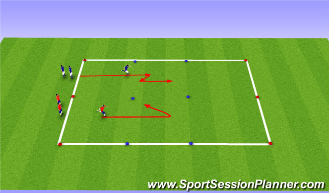 Football/Soccer Session Plan Drill (Colour): Calentamiento