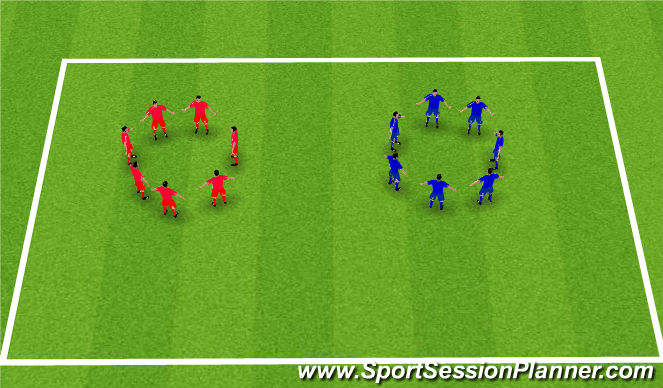 Football/Soccer Session Plan Drill (Colour): Pass the Hoop