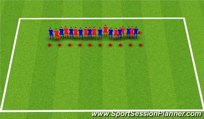 Football/Soccer Session Plan Drill (Colour): Team Work Games