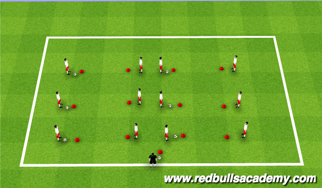 Football/Soccer Session Plan Drill (Colour): Ball Mastery - Pairs