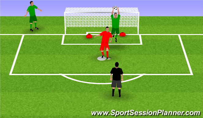 Football/Soccer Session Plan Drill (Colour): Passive attacker