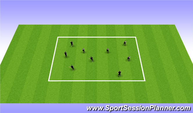 Football/Soccer Session Plan Drill (Colour): Warm up - Skills