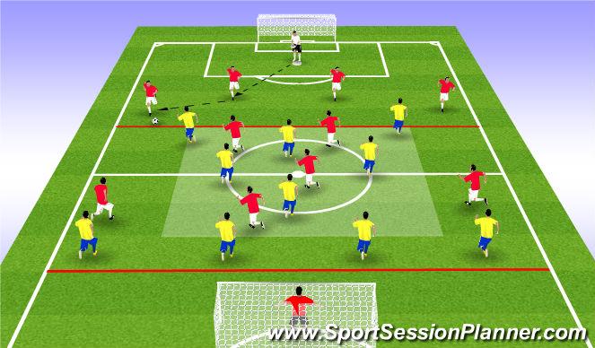 Football/Soccer Session Plan Drill (Colour): Ε.ΠΑΙΧΝΙΔΙ ΑΝΤΕΠΙΘΕΣΗΣ (15')