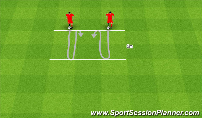 Football/Soccer Session Plan Drill (Colour): Linie równoległe.