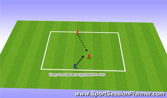 Football/Soccer Session Plan Drill (Colour): Intercepting