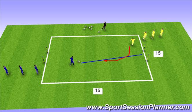 Football/Soccer Session Plan Drill (Colour): 1v1 Jugado