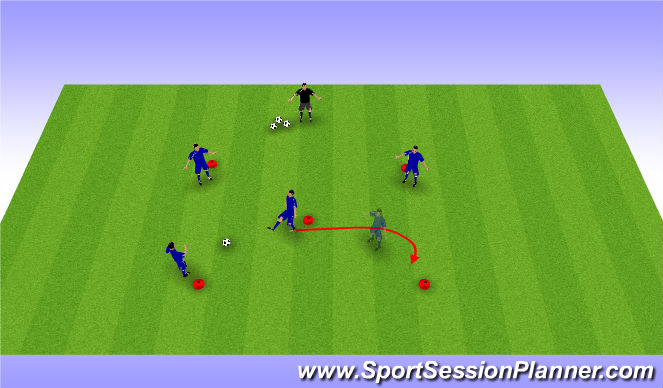 Football/Soccer Session Plan Drill (Colour): 5 Huecos