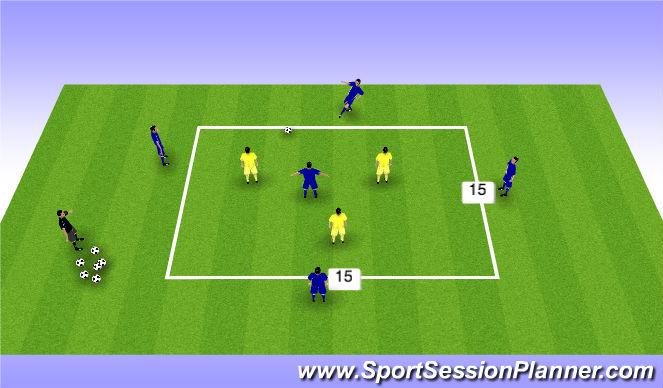 Football/Soccer Session Plan Drill (Colour): Posesion 5v3