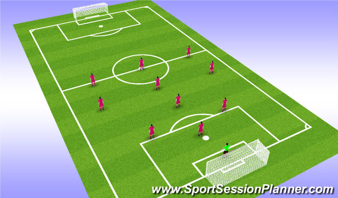 Football/Soccer Session Plan Drill (Colour): CHEVY Diamond