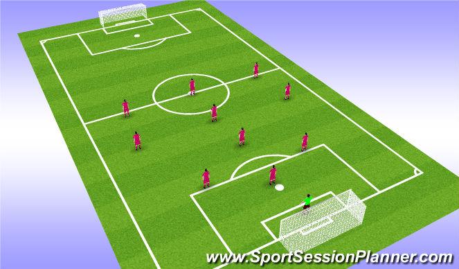 Football/Soccer Session Plan Drill (Colour): CHEVY Diamond