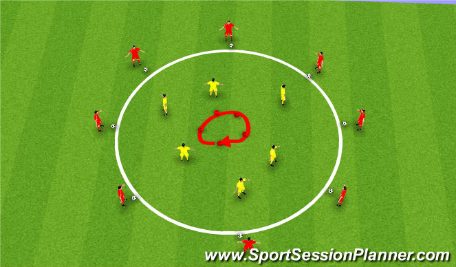Football/Soccer Session Plan Drill (Colour): Windows - fast feet