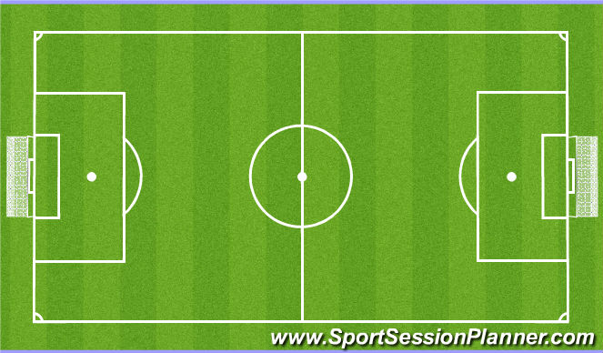 Football/Soccer Session Plan Drill (Colour): U11's / U12's: 9v9