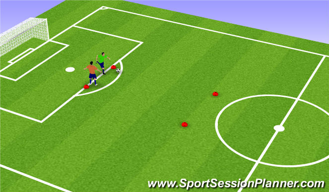 Football/Soccer Session Plan Drill (Colour): mismarking