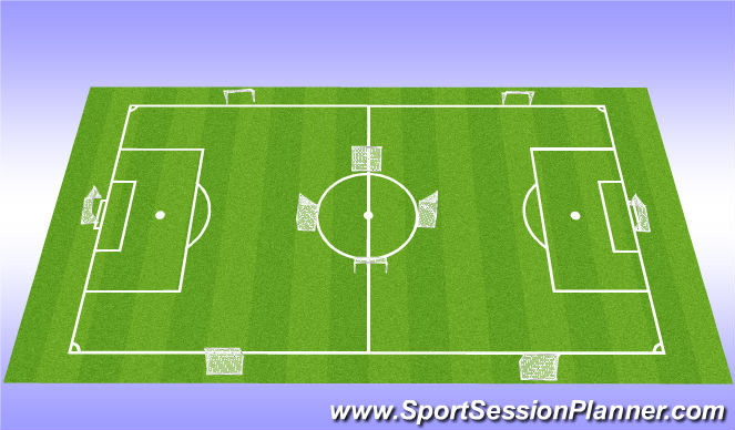 Football/Soccer Session Plan Drill (Colour): 10 goal game