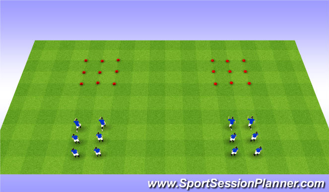 Football/Soccer Session Plan Drill (Colour): Connect 3