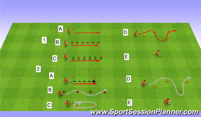 Football/Soccer Session Plan Drill (Colour): Whole session.