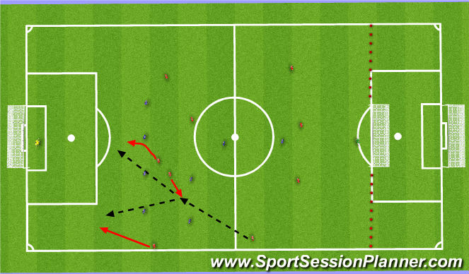 Football/Soccer Session Plan Drill (Colour): 11v8
