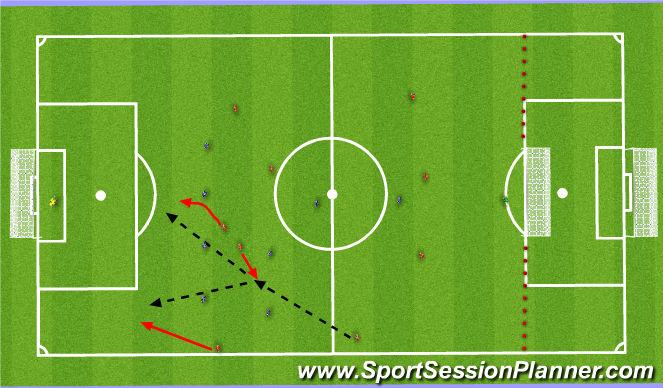 Football/Soccer Session Plan Drill (Colour): 11v8