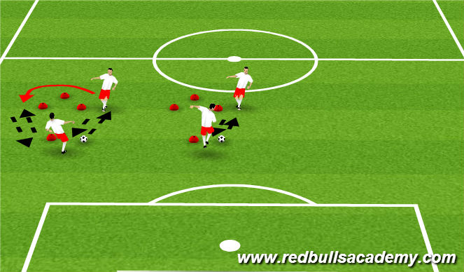 Football/Soccer Session Plan Drill (Colour): Ex 1 - technical passing