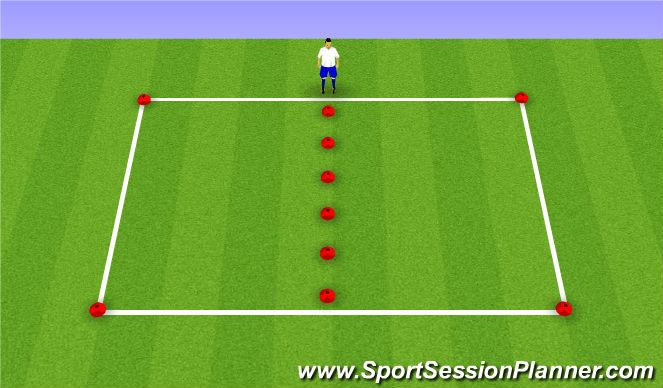 Football/Soccer Session Plan Drill (Colour): Dribbling - Inside / Outside