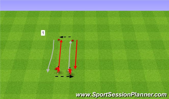 Football/Soccer Session Plan Drill (Colour): Rozgrzewka.