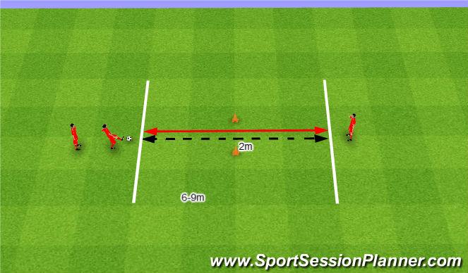 Football/Soccer Session Plan Drill (Colour): Dokładne podania i przyjęcia.