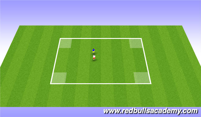 Football/Soccer Session Plan Drill (Colour): 1 vs 1 Fully Opposed