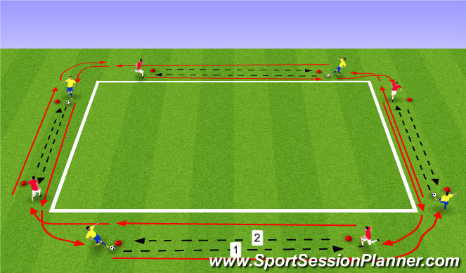 Football/Soccer Session Plan Drill (Colour): Α. ΠΡΟΘΕΡΜΑΝΣΗ -ΤΕΧΝΙΚΗ 20'